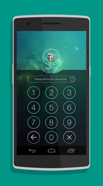 AppLock Theme Space-screenshot-2