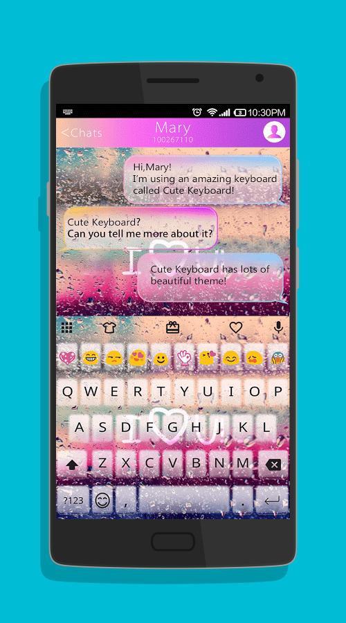 COLOR RAIN Emoji Keyboard Skin-screenshot-2