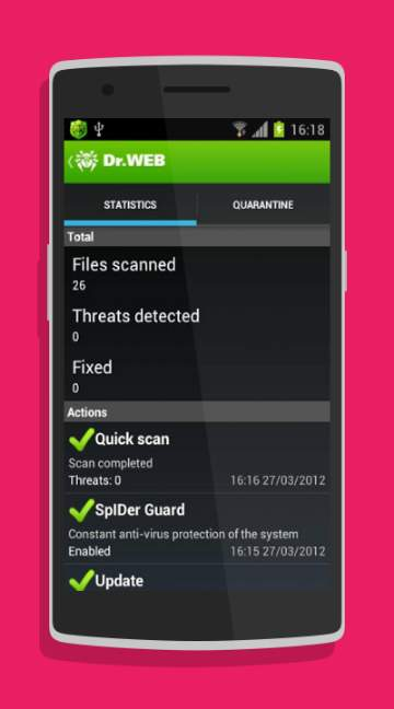 ... Dr.Web Anti Virus Light Screenshot 2