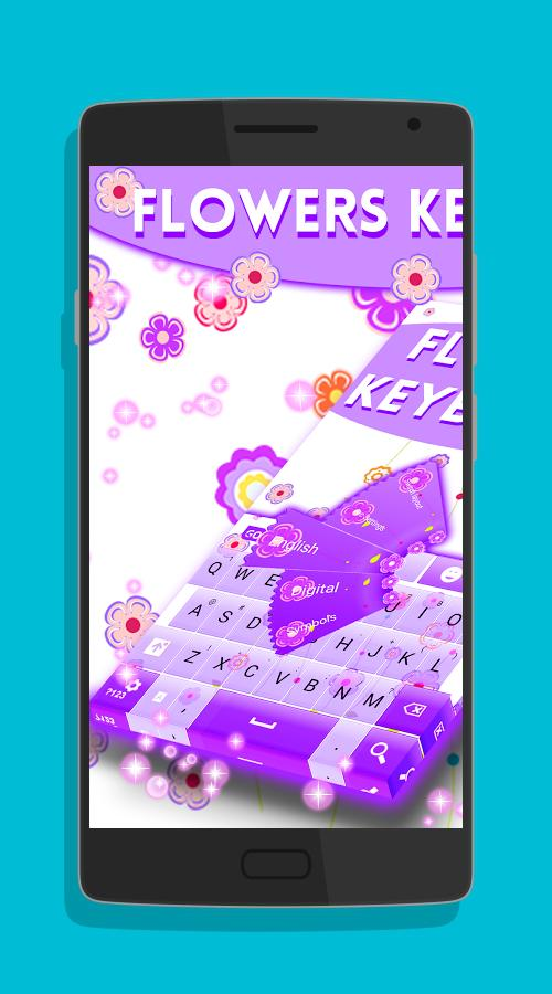 Flowers keyboard theme-screenshot-1