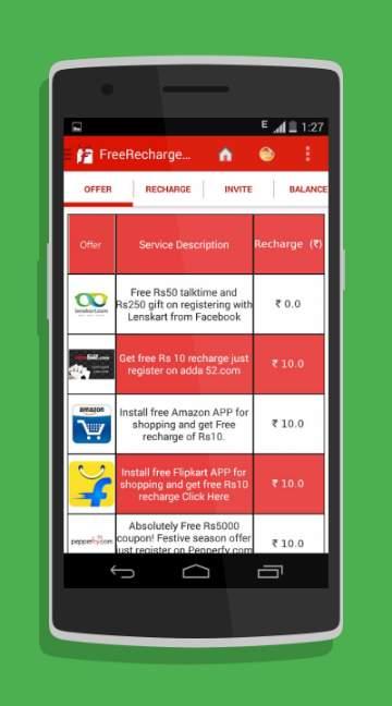 Free Recharge Deals-screenshot-1