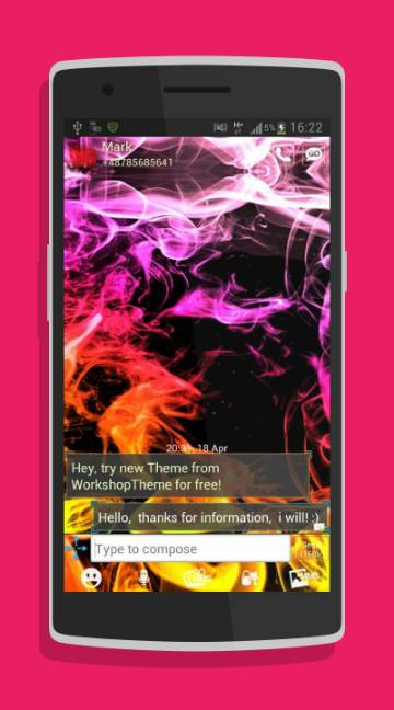 GO SMS Theme Smoke Colors-screenshot-2