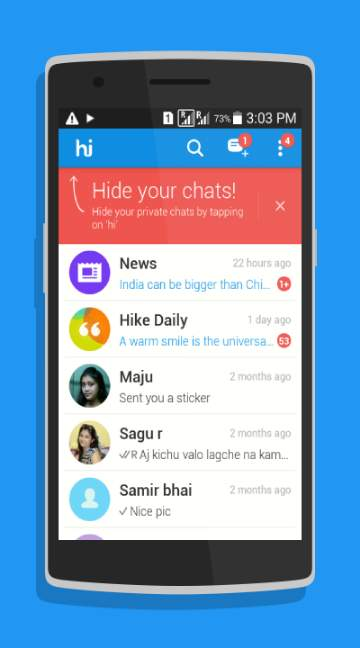 Hike messenger-screenshot-1