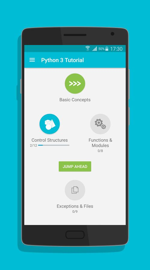 Learn python app for android
