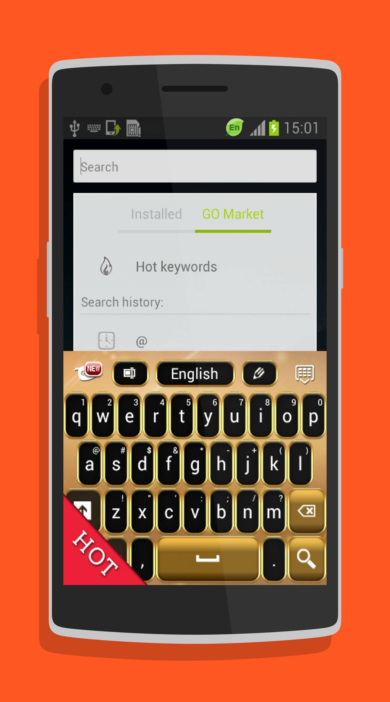 Neon Gold GO Keyboard-screenshot-1