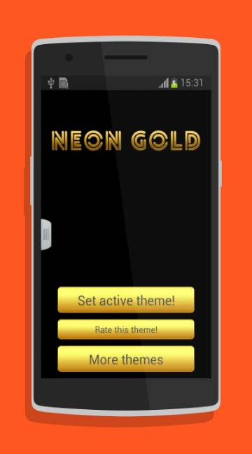 Neon Gold GO Keyboard-screenshot-2